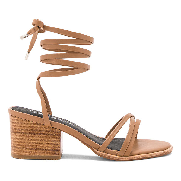 SOL SANA Tabitha Heel - Leather upper with man made sole. Wrap ankle with tie