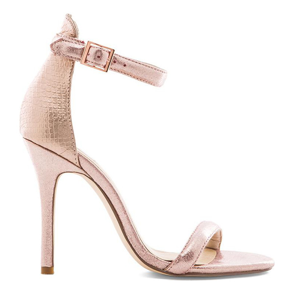 SOLES X nude icebergs heel - Snake embossed metallic leather upper with man made sole....