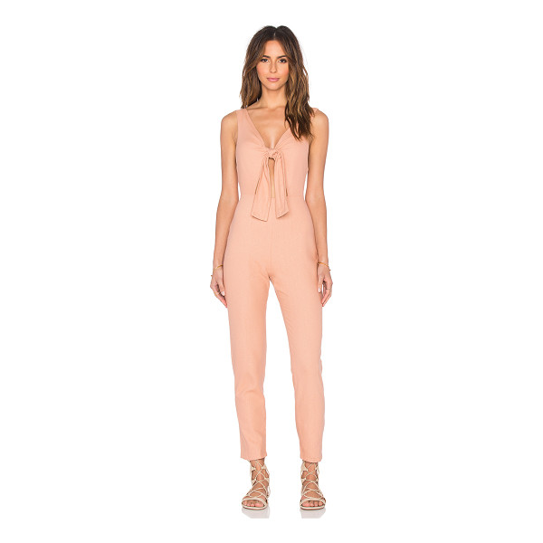 SOLID & STRIPED The jumpsuit - 100% silk. Front cut-out with tie closure. Back hidden...