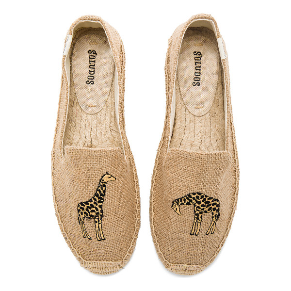 SOLUDOS Giraffe Smoking Slipper - Textile upper with man made sole. Slip-on styling....