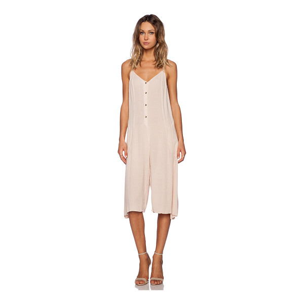 SOMEDAYS LOVIN Spell cast midi jumpsuit - Cotton blend. Adjustable shoulder straps. Button front...