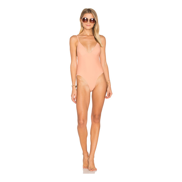 SOMEDAYS LOVIN Sun Beat Down One Piece Swimsuit - Polyamide blend. Hand wash cold. Adjustable shoulder