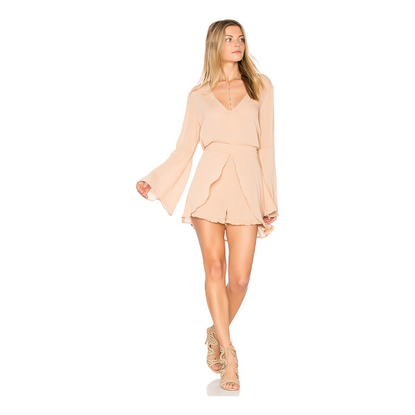 """SOMEDAYS LOVIN Touch the Sun Playsuit - """"100% poly. Smocked waist with tie. Skirt overlay. Back..."""
