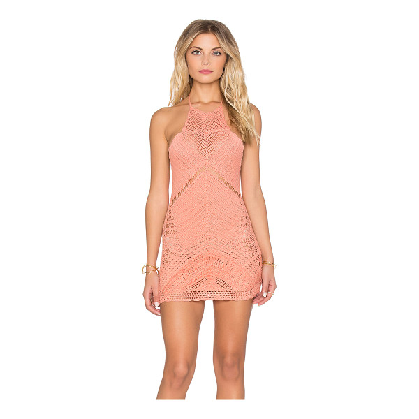 SPELL & THE GYPSY COLLECTIVE Palm Spring Halter Mini Dress - 100% cotton. Hand wash cold. Unlined. Halter strap ties...