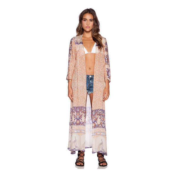 SPELL & THE GYPSY COLLECTIVE Xanadu duster - 100% viscose. Hand wash cold. Open front. SPEL-WO21. XANADU...