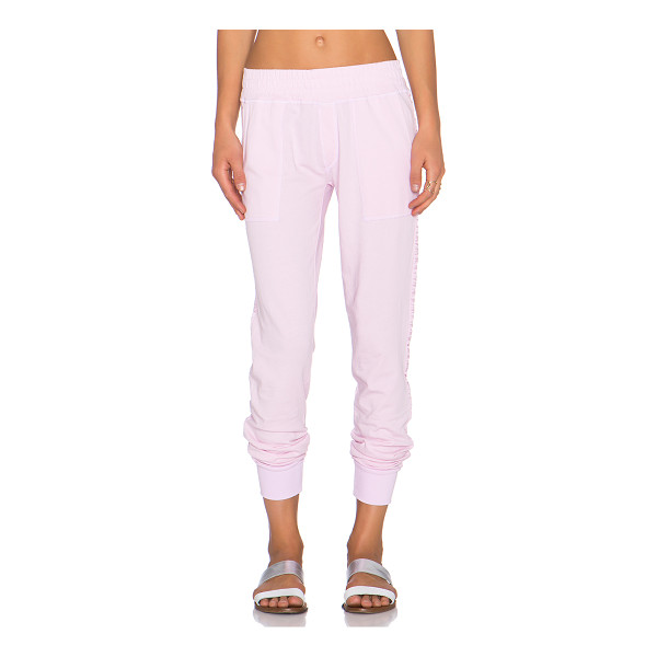SPIRITUAL GANGSTER Jogger sweatpant - 100% cotton. Banded waist and leg openings. Front slant...