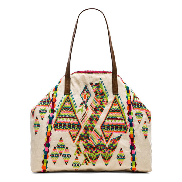 STAR MELA Zuri embroidered bag - Embroidered fabric exterior with cotton fabric lining....