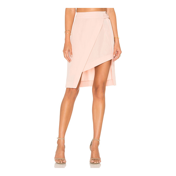 STATE OF BEING Layer Up Skirt - 100% lyocell. Hand wash cold. Wrap front with side D-ring...