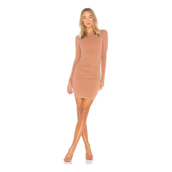 STATESIDE Slub 2X1 Rib Dress - 100% supima cotton. Unlined. Rib knit fabric. Ruching side...