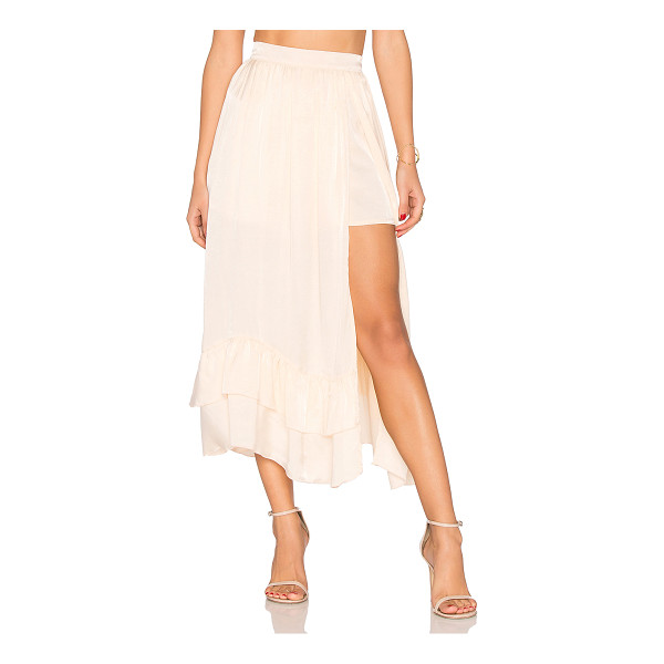 "STEELE Harper Midi Skirt - ""100% viscose. Hand wash cold. Attached shorts lining...."