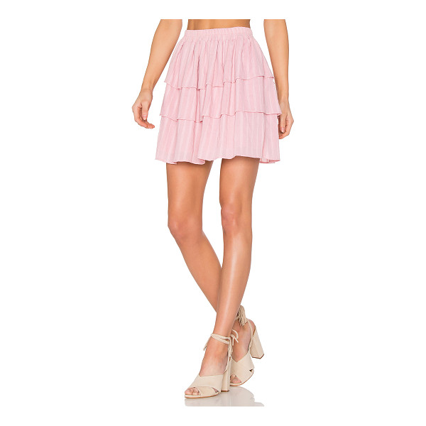"""STEELE Moonlight Frill Skirt - """"100% cotton. Fully lined. Elasticized waist. Tiered layer..."""