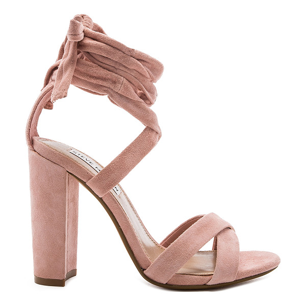 STEVE MADDEN Christey Heel - Suede upper with man made sole. Wrap ankle with tie...