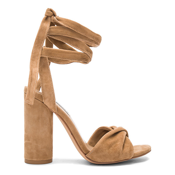 STEVE MADDEN Clary Heel - Suede upper with man made sole. Wrap ankle with tie