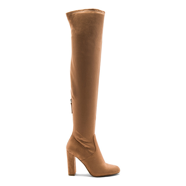 STEVE MADDEN Emotions Boot - Faux suede upper with man made sole. Back zip closure. Heel...