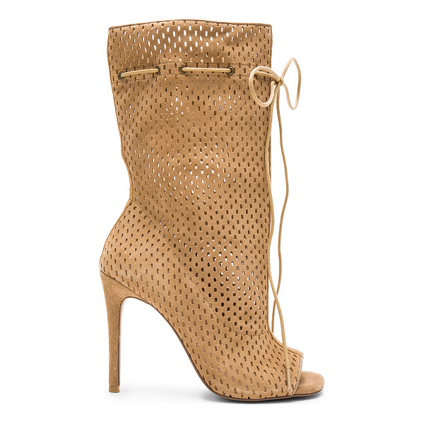 STEVE MADDEN Forsaken boot - Perforated suede upper with man made sole. Tie closure....