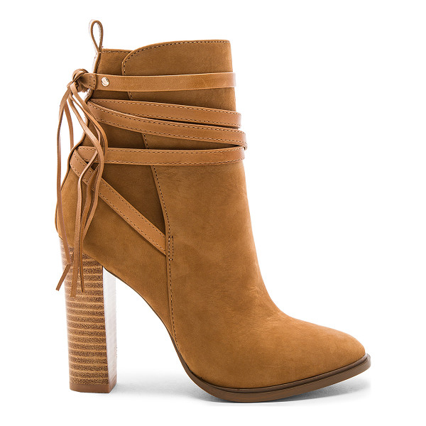 STEVE MADDEN Gaybel Bootie - Suede upper with man made sole. Side zip closure. Wrap