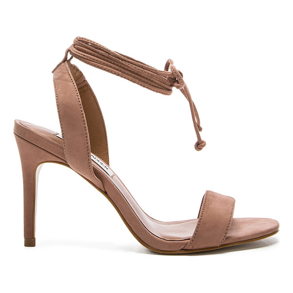 STEVE MADDEN Natlia heel - Suede upper with man made sole. Wrap ankle with tie...
