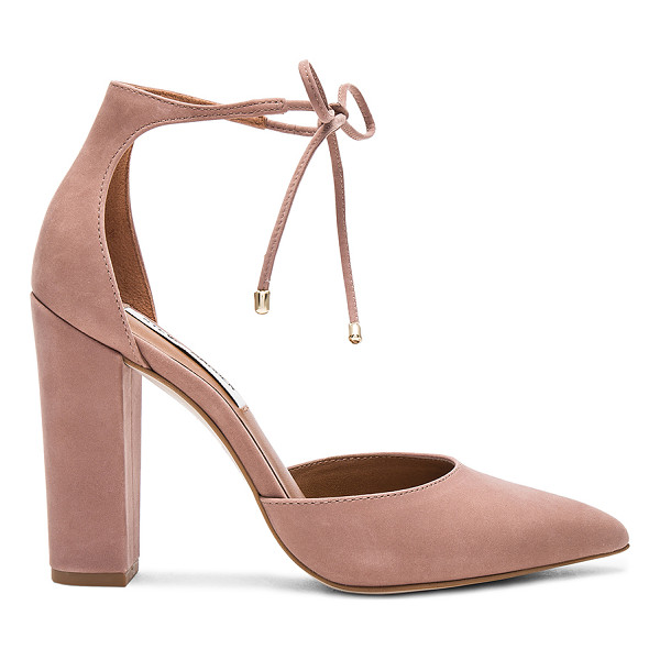 STEVE MADDEN Pampered Heel - Suede upper with man made sole. Tie closure. Heel measures...