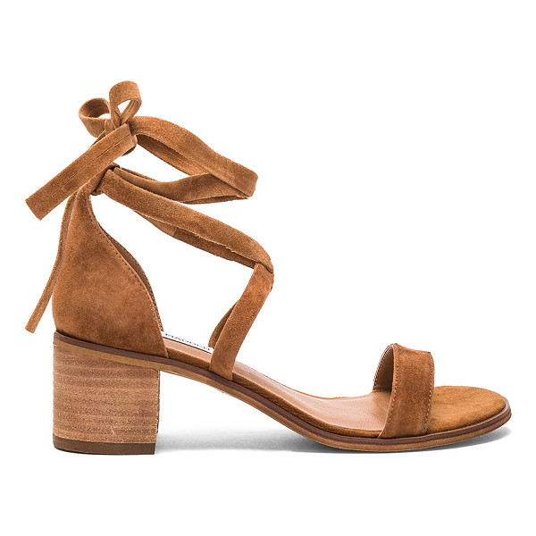 STEVE MADDEN Rizzaa Heel - Suede upper with man made sole. Wrap ankle with tie...