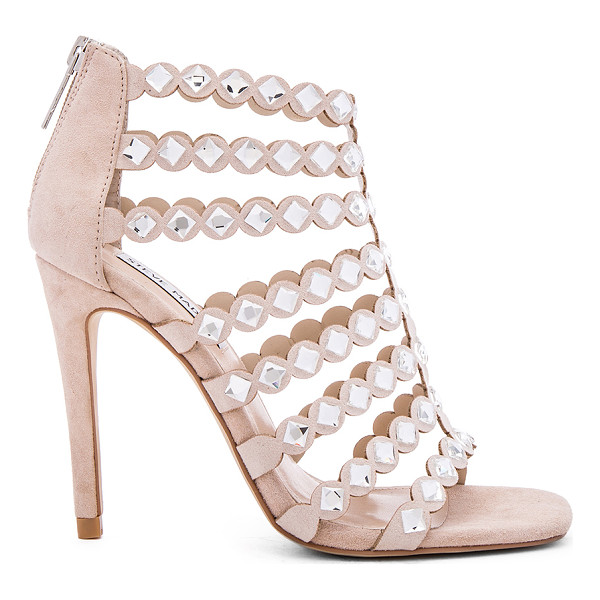 STEVE MADDEN Shinning heel - Rhinestone suede upper with man made sole. Caged cut-out....