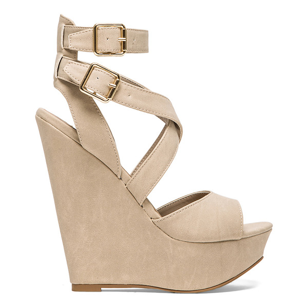STEVE MADDEN Xfoliate wedge - Leather upper with man made sole. Wedge measures approx...