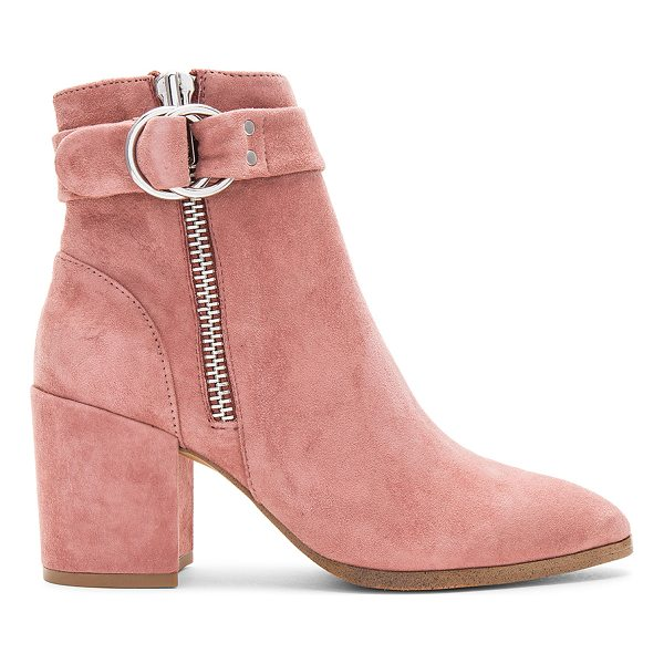STEVEN Johannah Bootie - Suede upper with man made sole. Double side zip closures....