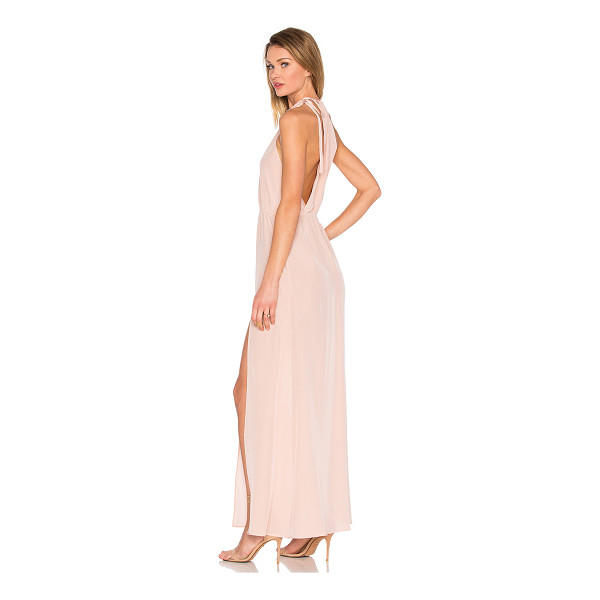 STONE COLD FOX Onyx Gown - 100% silk. Dry clean only. Unlined. Back tie closure....