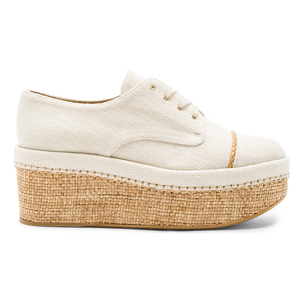 STUART WEITZMAN Mantra Platform - Canvas upper with rubber sole. Lace-up front. Woven jute...