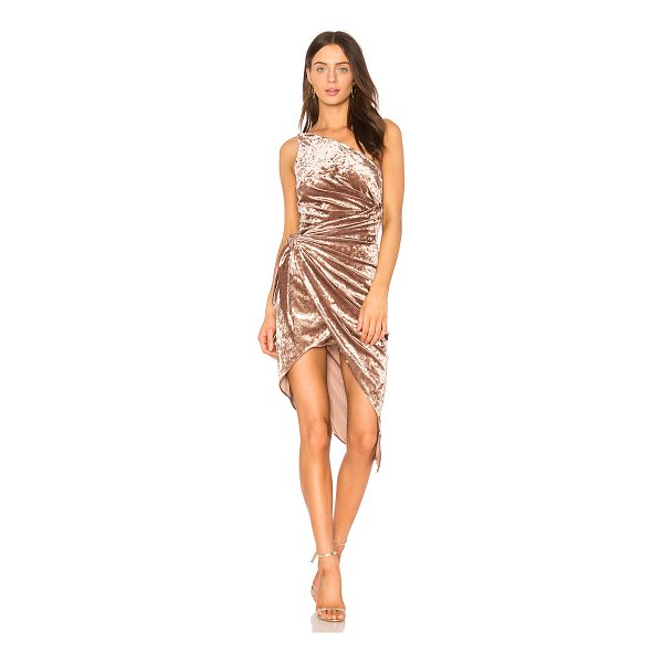 STYLE STALKER Sasha One Shoulder Dress - Poly blend. Dry clean only. Fully lined. Draped fabric...