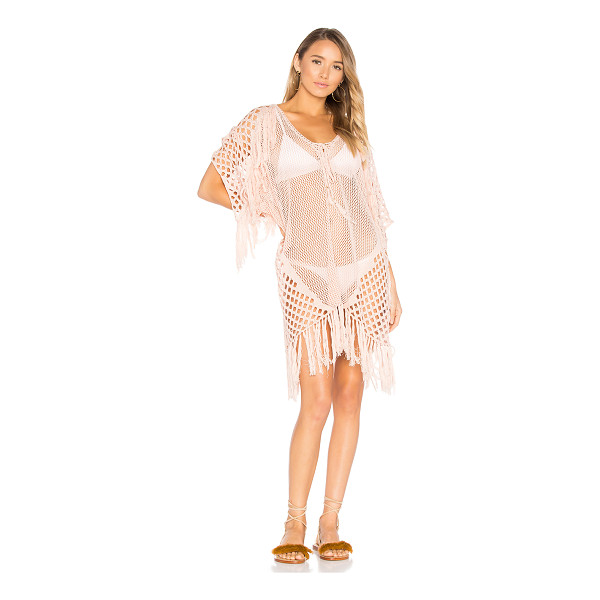 SUBOO New Romantics Fringe Caftan - 100% cotton. Hand wash cold. Unlined. Lace-up front with...