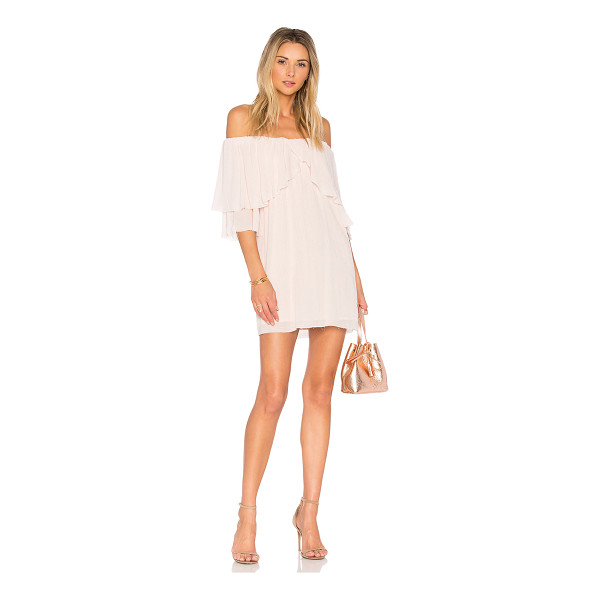 """SUBOO Perfect Day Off Shoulder Dress - """"Self: 97% poly 3% spandexLining: 100% rayon. Hand wash..."""
