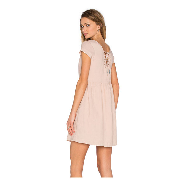 SUNCOO Chouki Lace Up Back Dress - 100% cotton. Hand wash cold. Fully lined. Lace-up back with...