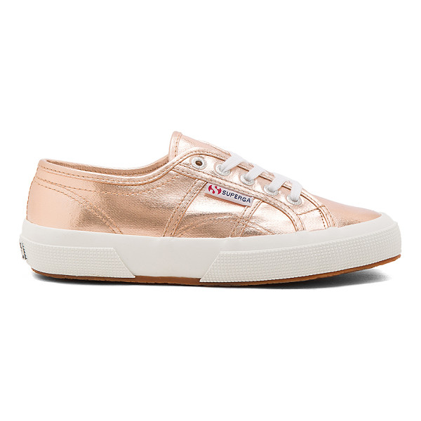 SUPERGA 2750 Cotmetu Sneaker - Metallic cotton upper with rubber sole. Lace-up front....