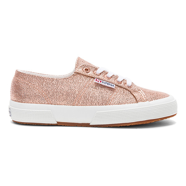 SUPERGA 2750 Metallic Sneaker - Metallic textile upper with rubber sole. Lace-up front....