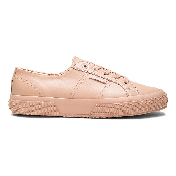 SUPERGA 2750 Sneaker - Leather upper with rubber sole. Lace-up front. SERG-WZ136....