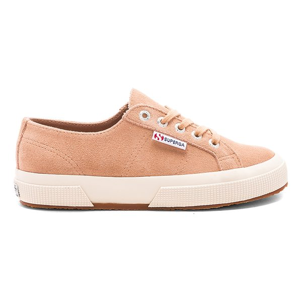 SUPERGA 2750 Suede Sneaker - Suede upper with rubber sole. Lace-up front. SERG-WZ153....