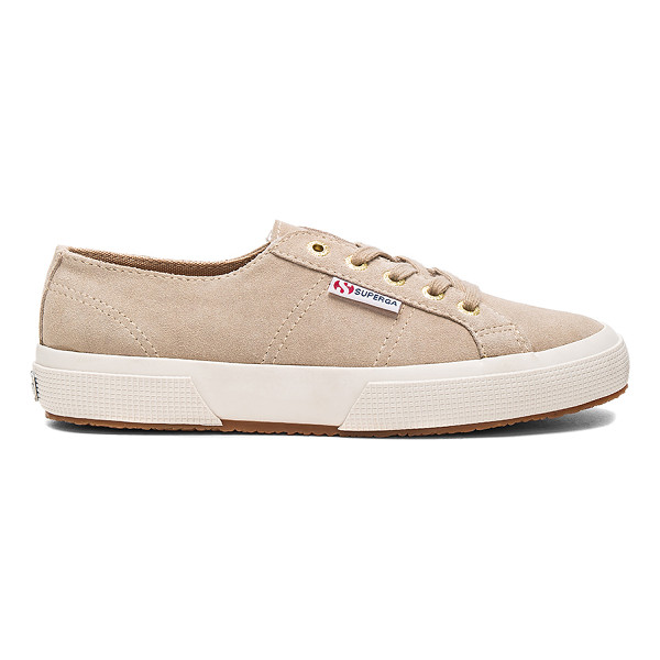 SUPERGA 2750 Sueu Sneaker - Suede upper with rubber sole. Lace-up front. SERG-WZ129.