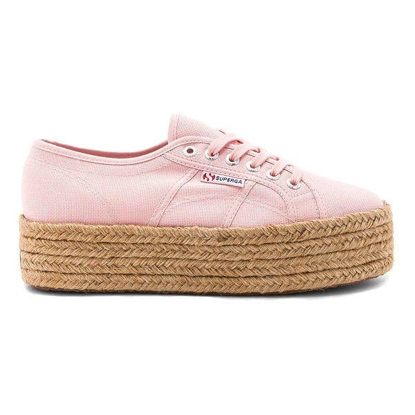 """SUPERGA 2790 Sneaker - """"Canvas upper with rubber sole. Lace-up front. Jute trim...."""