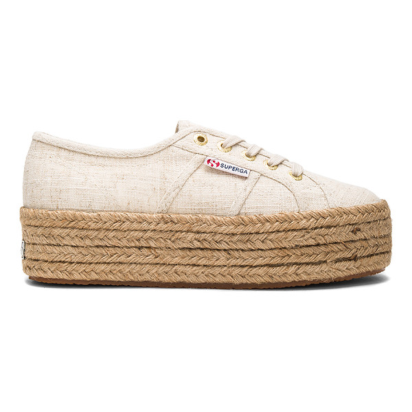 SUPERGA 2790 Sneaker - Canvas upper with rubber sole. Lace-up front. Jute trim....