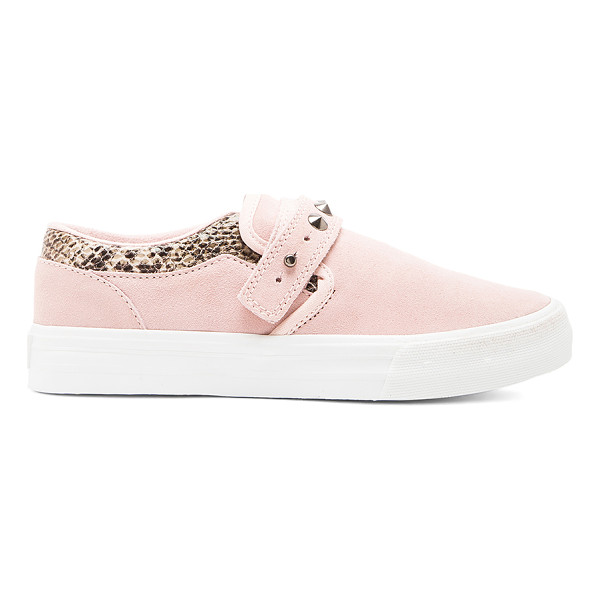SUPRA X elyse walker cuba slip on - Snake embossed leather and suede upper with rubber sole....