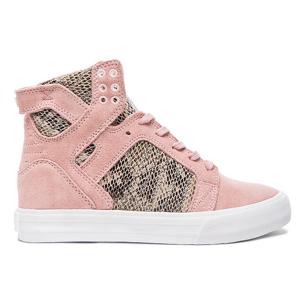 SUPRA X elyse walker skytop wedge sneaker - Snake embossed leather and suede upper with rubber sole....