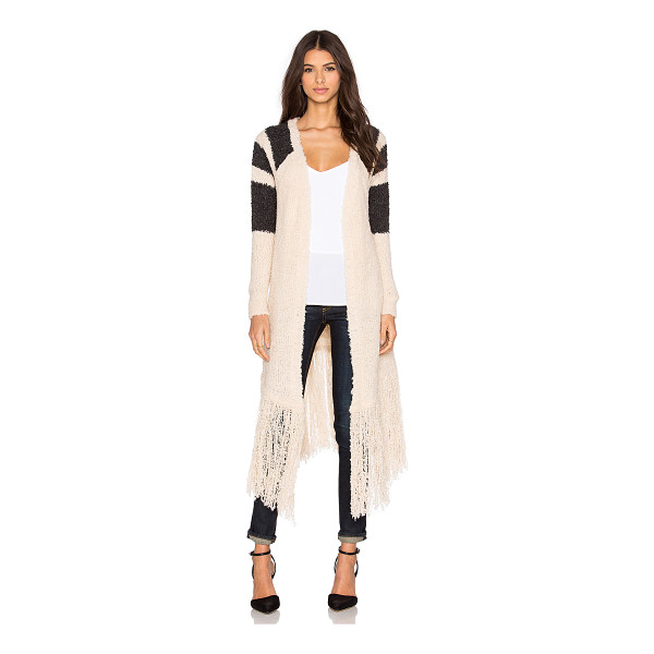 SUSS Whitney fringe cardigan - 72% acrylic 12% wool. Dry clean only. Open front. Slit...