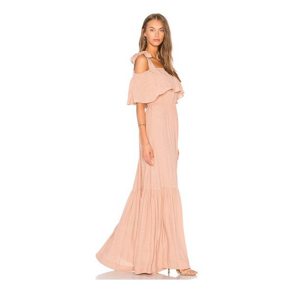 SWF Chloe Maxi Dress - 100% rayon. Dry clean only. Unlined. Shoulder tie accents....