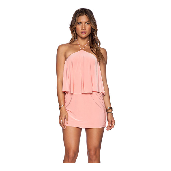 T-BAGS LOS ANGELES Halter mini dress - 96% poly 4% spandex. Dry clean only. Neckline to hem...