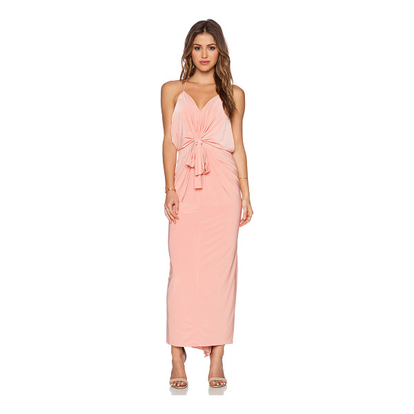 T-BAGS LOS ANGELES T-bags domino tie front maxi dress - 96% poly 4% spandex. Dry clean only. Front tie closure....