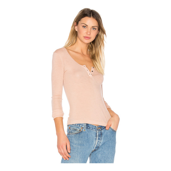 T BY ALEXANDER WANG Sheer Wooly Henley - Blushing wool creates the perfect basic in T by Alexander...