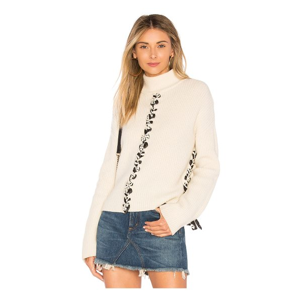 TABULA RASA Mughal Lace Up Sweater - Wool blend. Dry clean only. Rib knit fabric. Front and back...
