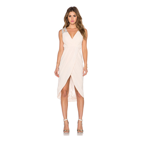TFNC Deborah midi dress - 100% poly. Hand wash cold. Fully lined. Exposed back zipper...