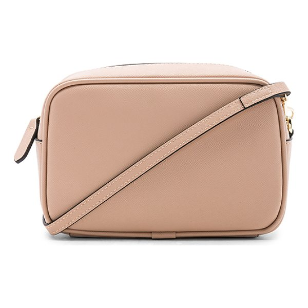 """THE DAILY EDITED Mini Cross Body Bag - """"Leather exterior with twill fabric lining. Zip top..."""