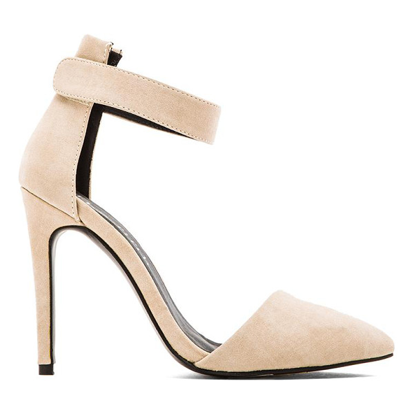 "THE FIFTH LABEL Lunar court heel - Suede upper with man made sole. Heel measures approx 4"""" H...."